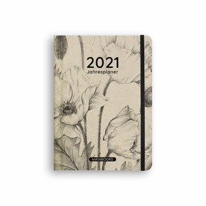 Nachhaltiger Kalender A5 aus Graspapier -  Samaya 2021 'Nature' - Matabooks