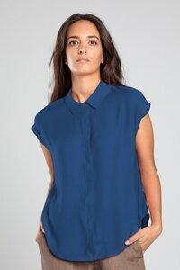 "Bluse ""Chikku"" in lapisblau - [eyd] humanitarian clothing"
