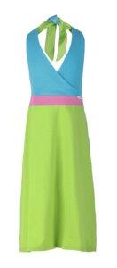 "Neckholderkleid ""Brazil"" Apfel/Pink/Türkis - CHARLE - sustainable kids fashion"