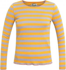 Langarmshirt gelb-lila geringelt - Jalfe