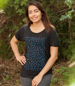 Streusel - Fair gehandeltes Rolled Sleeve Frauen T-Shirt - Modal - päfjes