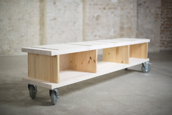 ekomia regalsystem alma sideboard sitzbank auf rollen avocadostore. Black Bedroom Furniture Sets. Home Design Ideas