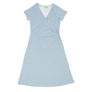 Frauenkleid diagonal stripes Wickeloptik - Lily Balou