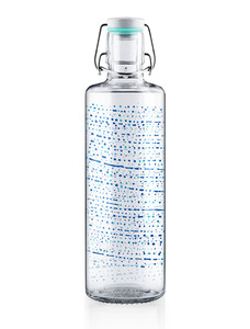 "soulbottle 1,0l • Trinkflasche aus Glas • ""One million drops"" - soulbottles"