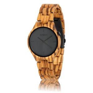 Holzuhr YUCA Zebrano-Holz | 40 mm | handgemacht | vegan - HOT&TOT