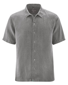 HempAge Herren Kurzarm-Hemd reiner Hanf - HempAge