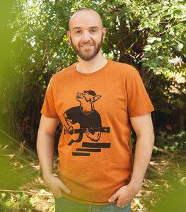 Frank Fuchs - Fair gehandeltes Männer T-Shirt - Slub Orange - päfjes