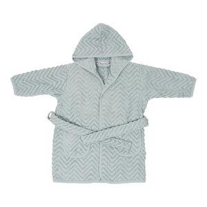 Baby Bademantel Zick-Zackmuster 100 % Bio Baumwolle 1-2 Jahre - Filibabba