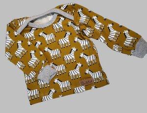 Babyshirt aus Biojersey Zebras - Omilich