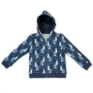 Sweat hoody leopard blau Kapuzenjacke - Lily Balou