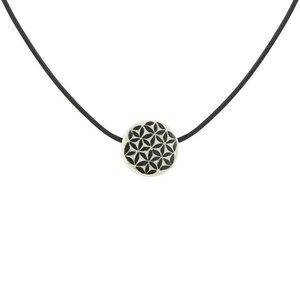 Upcycling Halskette - Flower of Life - Unisex  - Straußeneischmuck - Mambu Design