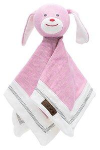 Schmusetuch Hund Bio Baumwolle Sunset Pink Juddlieses - JUDDLIES