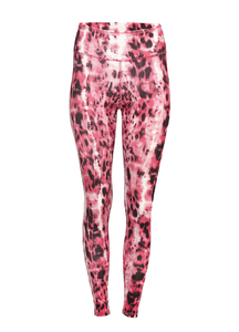 Yoga Leggings Ganga 7/8 Animal Pink - Kismet Yogastyle