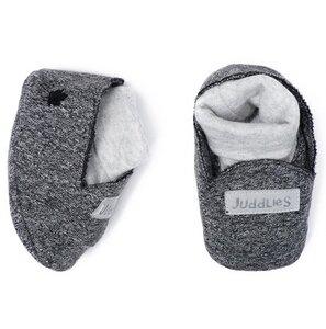 Babyschuhe Bio Baumwolle Graphit Black (0-3 M ) Juddlies - JUDDLIES