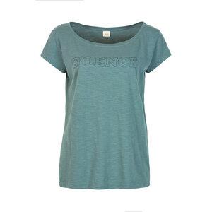 SILENCE - Damen - lockeres Print T-Shirt für Yoga aus 100% Biobaumwolle - Jaya
