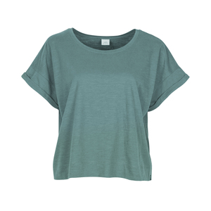 WENDY - Damen - lockeres T-Shirt für Yoga aus 100% Biobaumwolle - cropped - boxy cut - Jaya