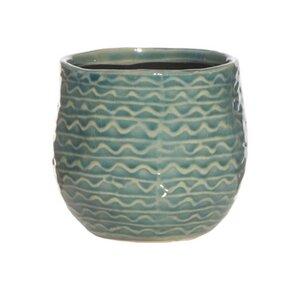 Blumenkasten blue dots aus Keramik - Mitienda Shop