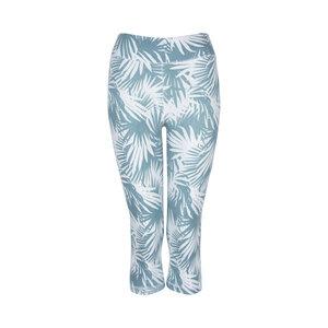 NONI - Damen - 3/4 Leggings für Yoga und Freizeit aus Biobaumwolle - Weiß/Grün - Jaya