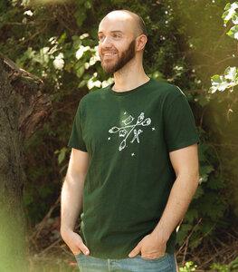 Schnick Schnack Schnuck - Fair gehandeltes Männer/ Unisex T-Shirt - Slub Darkgreen - päfjes