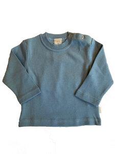 Baby Langarmshirt Hellblau - Lana naturalwear