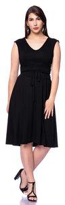 SCARLET wendbares Jerseykleid mit separater Kimono-Schärpe in schwarz - Ingoria