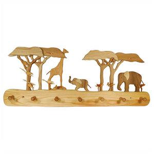 Kindergarderobe aus Holz | Afrika 7 Haken - Mitienda Shop