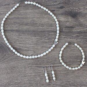 Mode Schmuck Set Armband, Kette, Ohrringe - 925 Silber - Mitienda Shop