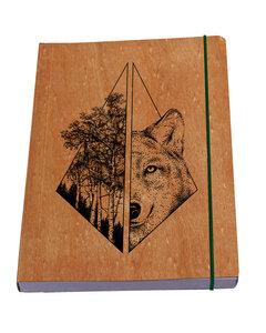 Wolf Maskulin Notizbuch - Waldkind