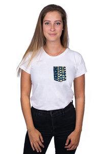 """Damen T-Shirt """"Fuko Blue"""" aus Bio-Baumwolle - Matema"""