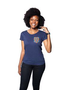 "Damen T-Shirt ""Fuko Orange"" aus Biobaumwolle - Matema"