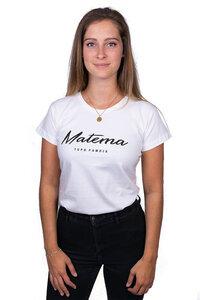 "Damen T-Shirt ""Kawaida White"" aus Biobaumwolle - Matema"