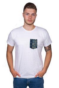 "Herren T-Shirt ""Fuko Blue"" aus Biobaumwolle - Matema"