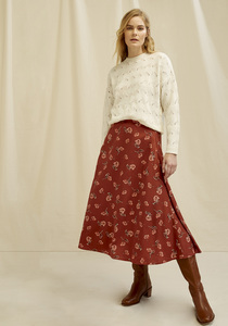 Tencel Midi Rock - Alison Floral Midi Skirt - People Tree