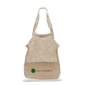 Netztasche | Kräftiger Canvas-Boden | Bio-Baumwolle - samebutgreen
