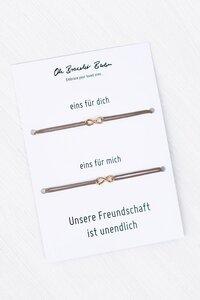 2er-Set: Freundschaftsarmband »Infinity« - Oh Bracelet Berlin