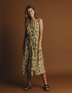 Kleid Damen - Abstract Flowers Jolie - thinking mu