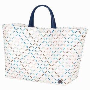 Shopper Summer Shade aus handgeflochtenem recyeltem Kunststoff - Handed By