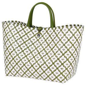 Shopper Motif aus handgeflochtenem recyeltem Kunststoff - Handed By