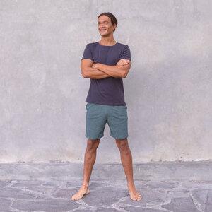 ROCKY UNI - Männer - körpernahes T-Shirt für Yoga aus Biobaumwolle - Jaya