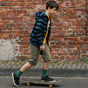 Striped Zip Hooded - Band of Rascals