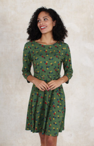 """Kleid aus Bambus-Faser und Bio-Baumwolle """"LB-028 Lucia flowers"""" - Lykka du Nord"""