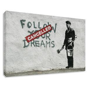 Banksy Bild Dream Cancelled Wandbilder Wohnzimmer - Kunstbruder
