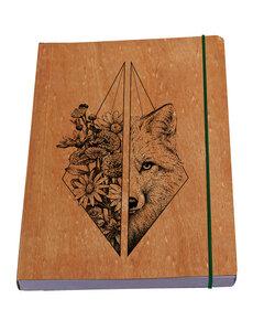 Wolf Feminin nachhaltiger Notizblock - Waldkind