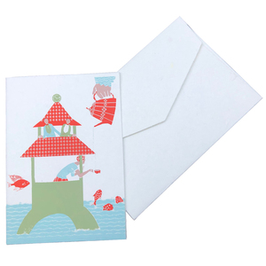 Grußkarte - Tee im Wasserturm - Salon Elfi