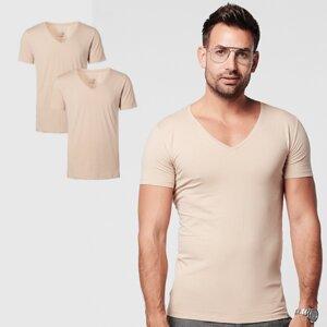 Nachhaltige T-Shirt 2-pack / Herren /  Tief V-neck / Unsichtbar - SKOT Fashion