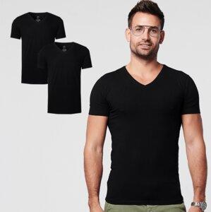 Nachhaltige T-Shirt 2-pack / Herren / V-neck / Weiß oder Schwarz - SKOT Fashion