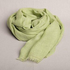 Schal handgewebt 100 % Leinen aus einer Frauenkooperative in Nepal - Maheela