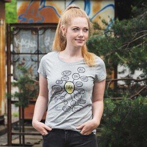 T-Shirt Print Fuck - Ladies Low Carbon Organic Cotton T‑Shirt - Nikkifaktur