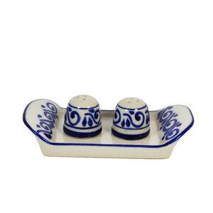 Keramik Salz & Pfeffer Streuer Set, Talavera-Stil handgemacht - Mitienda Shop