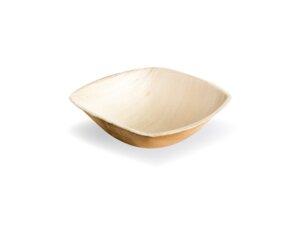 25 Leef-Schalen, Palmblatt, quadratisch, 14cm x 14cm x 5cm - Leef